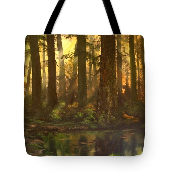 Early Morning Sun On Cannock Chase Tote Bag