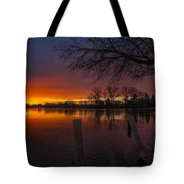 Tote Bag featuring the photograph Early Morning Sunrise by Nicholas  Grunas