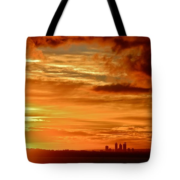 Early Morning Sunshine Over Fremantle Tote Bag