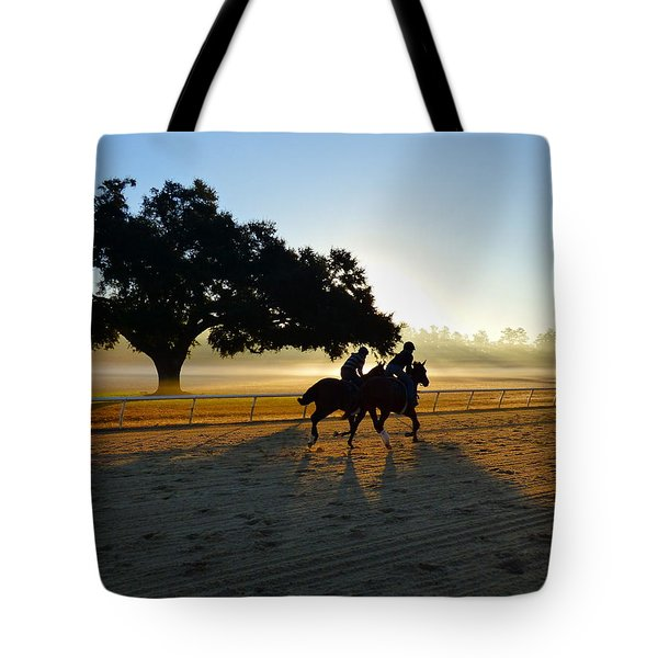 Early Morning Training Run Tote Bag