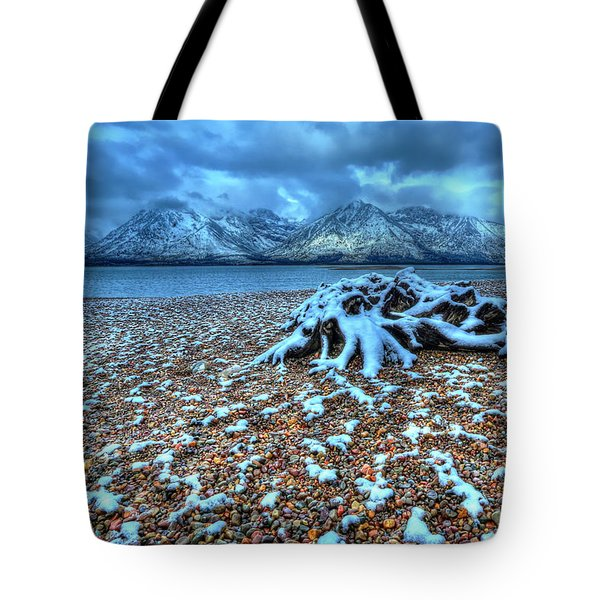 Early Snow On The Tetons Tote Bag