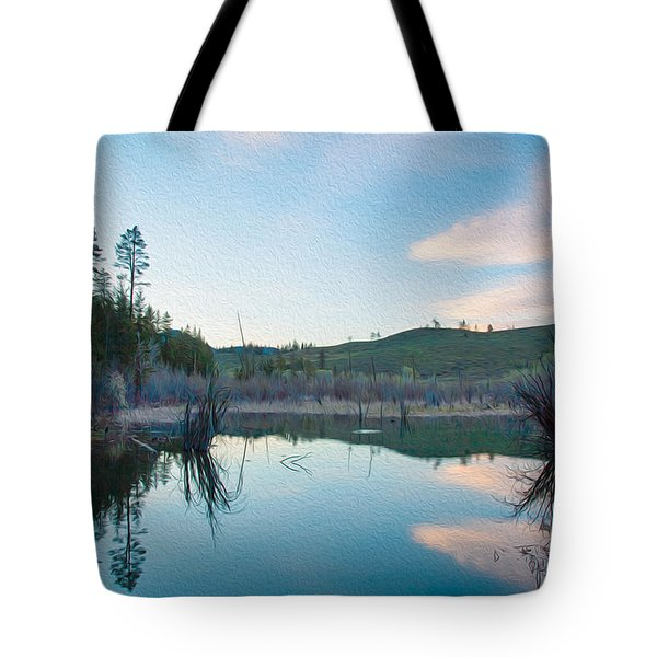 Early Sunset On A Beaver Pond  Tote Bag by Omaste Witkowski