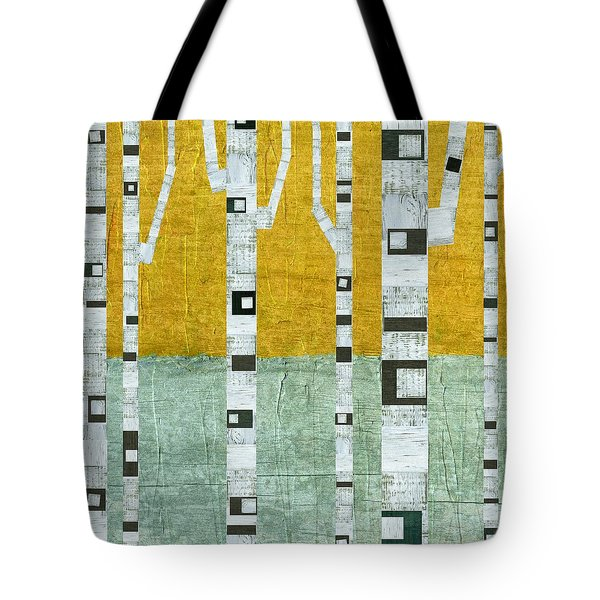 Early Winter Birches Tote Bag