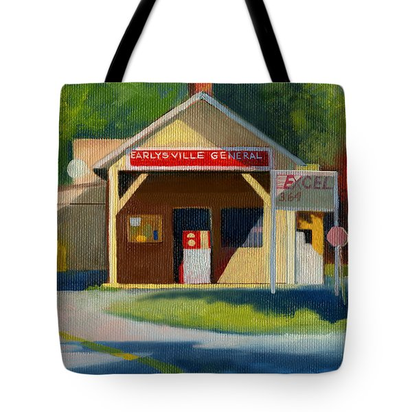 Earlysville Virginia Old Service Station Nostalgia Tote Bag