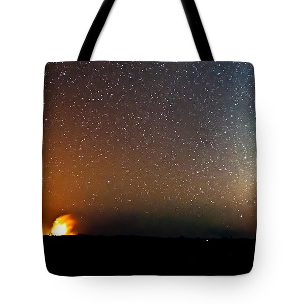Earth And Cosmos Tote Bag