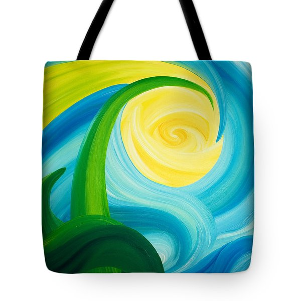 Earth And Sky Meet Tote Bag by Ginny Gaura
