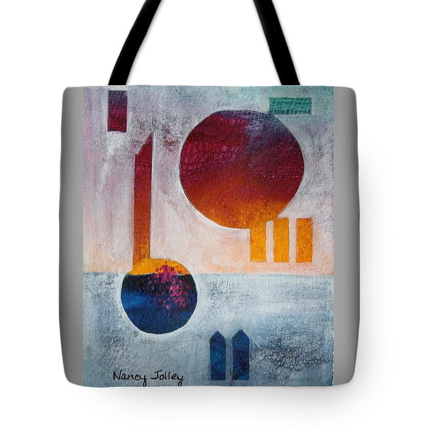 Earth And Sky Tote Bag by Nancy Jolley