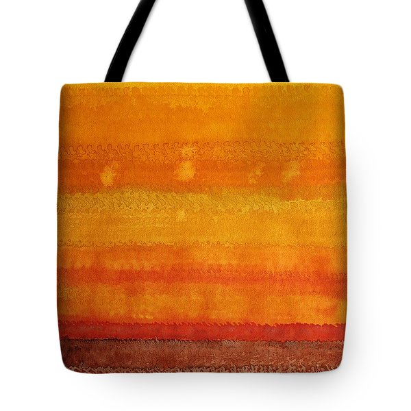Earth And Sky Original Painting Tote Bag by Sol Luckman