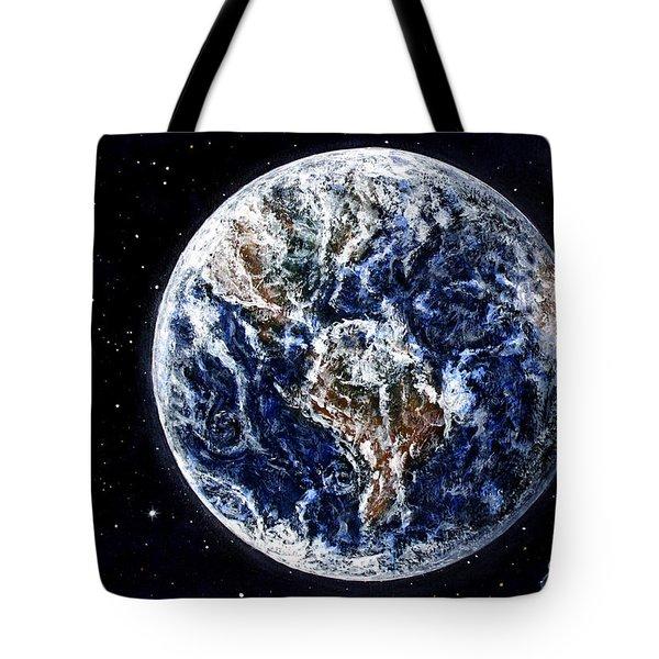 Earth Beauty Original Acrylic Painting Tote Bag by Georgeta Blanaru