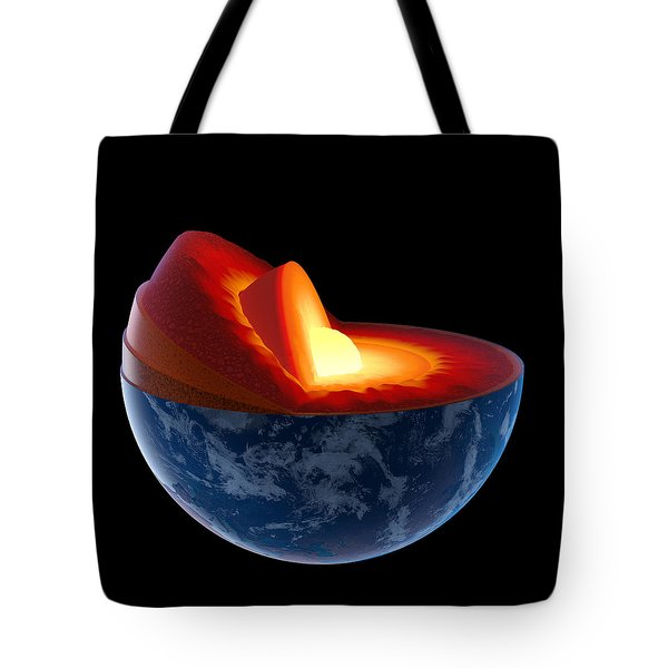 Earth Core Structure - Isolated Tote Bag