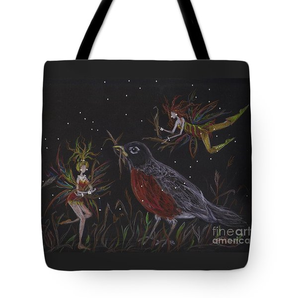 Tote Bag featuring the drawing Earth Day by Dawn Fairies