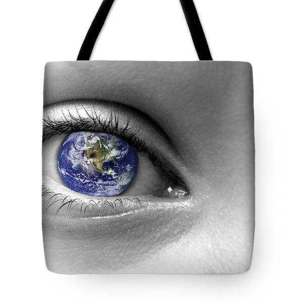 Earth Eye Tote Bag