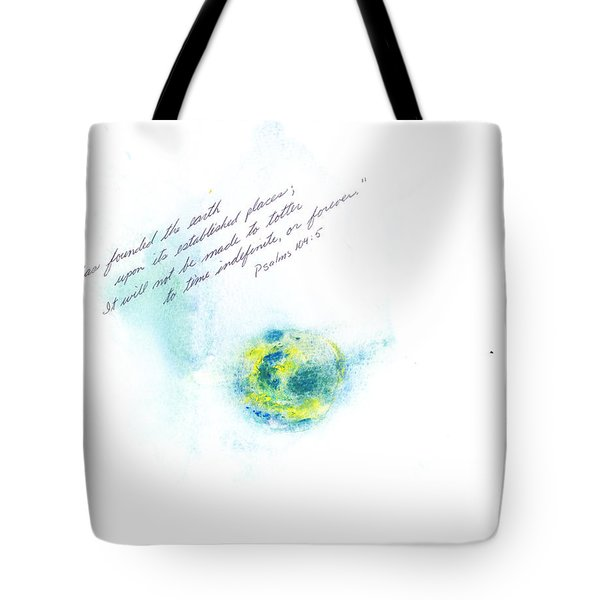 Earth Forever Tote Bag by B L Qualls