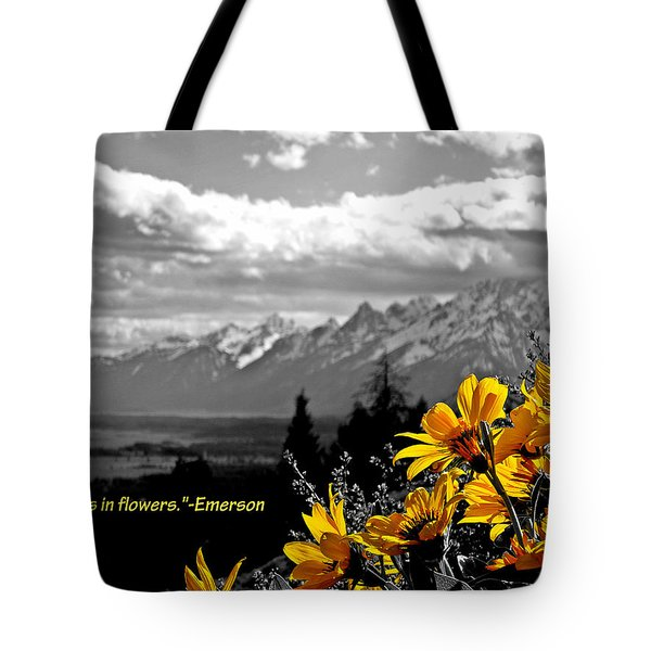 Earth Laughs In Flowers Tote Bag by Dan Sproul