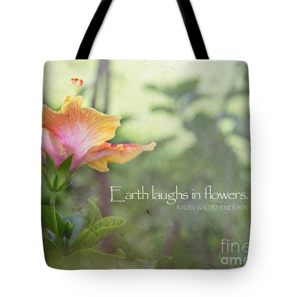 Earth Laughs Tote Bag by Sally Simon