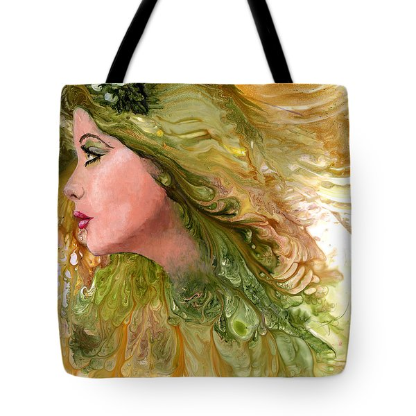 Earth Maiden Tote Bag by Sherry Shipley
