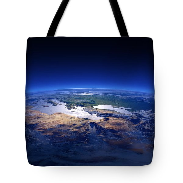 Earth - Mediterranean Countries Tote Bag by Johan Swanepoel