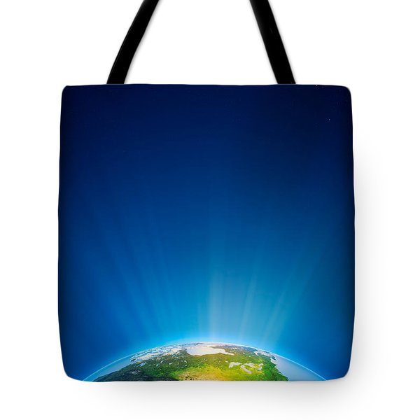 Earth Radiant Light Series - North America Tote Bag by Johan Swanepoel