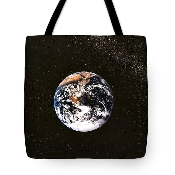 Earth Seen From Apollo 17 Africa And Antarctica Visible Tote Bag by Anonymous