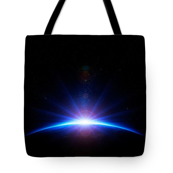 Earth Sunrise Tote Bag by Johan Swanepoel