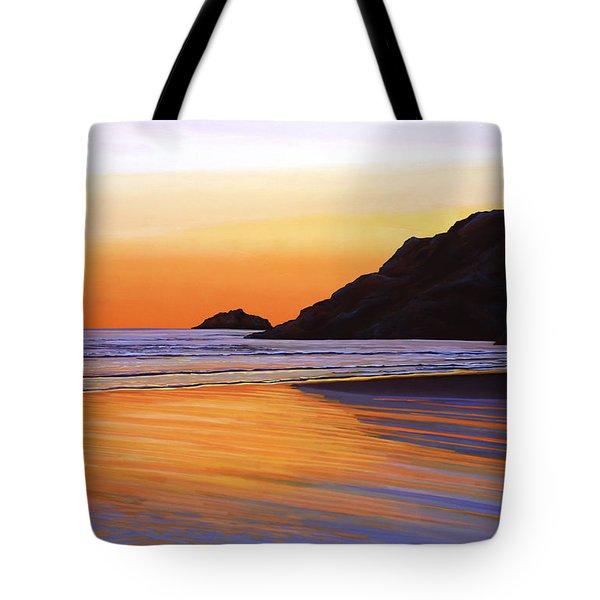 Earth Sunrise Sea Tote Bag