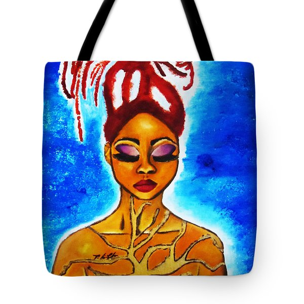 Tote Bag featuring the painting Earth by Tarra Louis-Charles