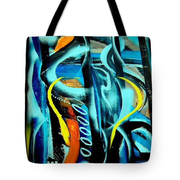 Tote Bag featuring the painting Imagination -  by Yul Olaivar