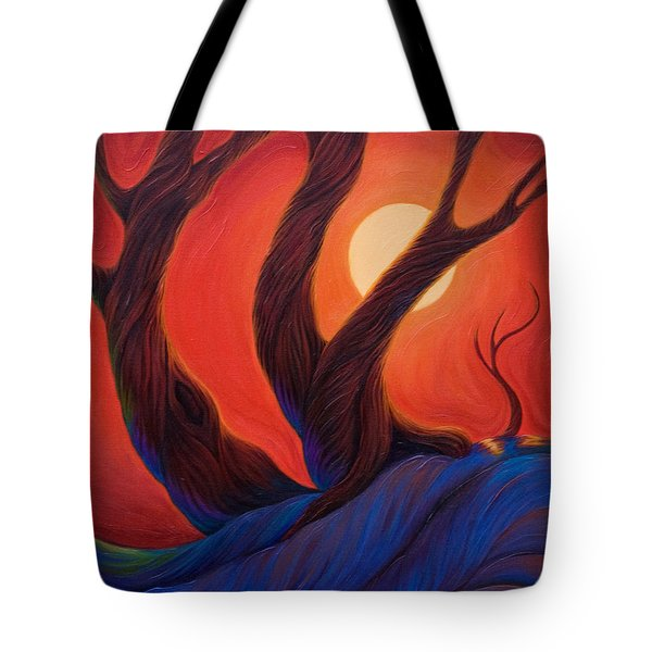 Tote Bag featuring the painting Earth  Wind  Fire by Sandi Whetzel