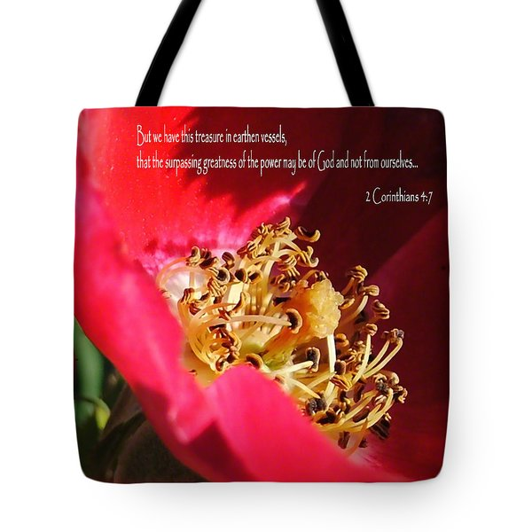 Earthen Rose Vessel Tote Bag