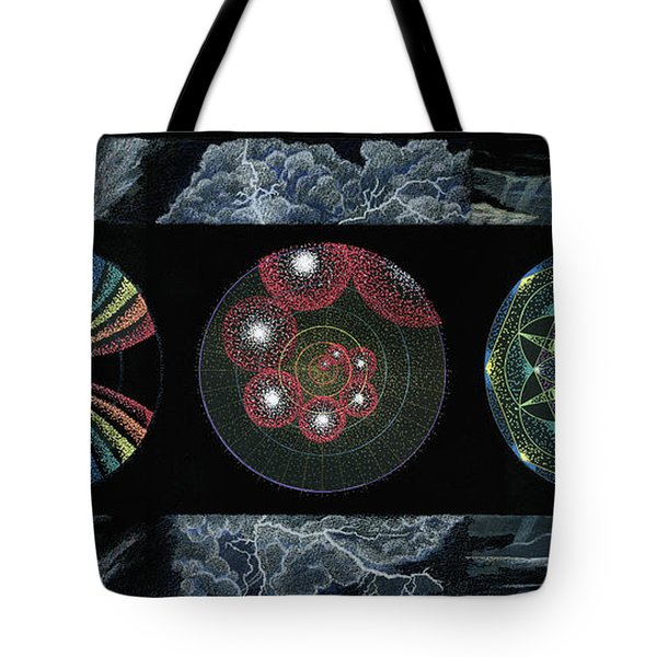 Tote Bag featuring the painting Earth's Beginnings by Keiko Katsuta
