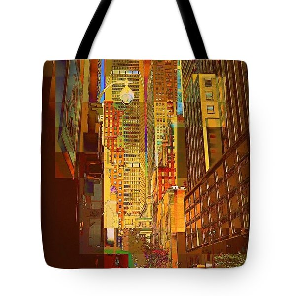 East 45th Street - New York City Tote Bag by Miriam Danar