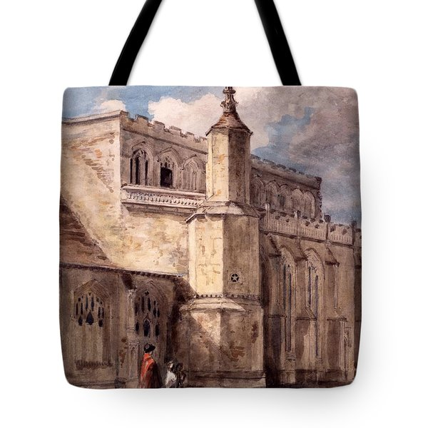 East Bergholt Church, Northside Tote Bag by John Constable