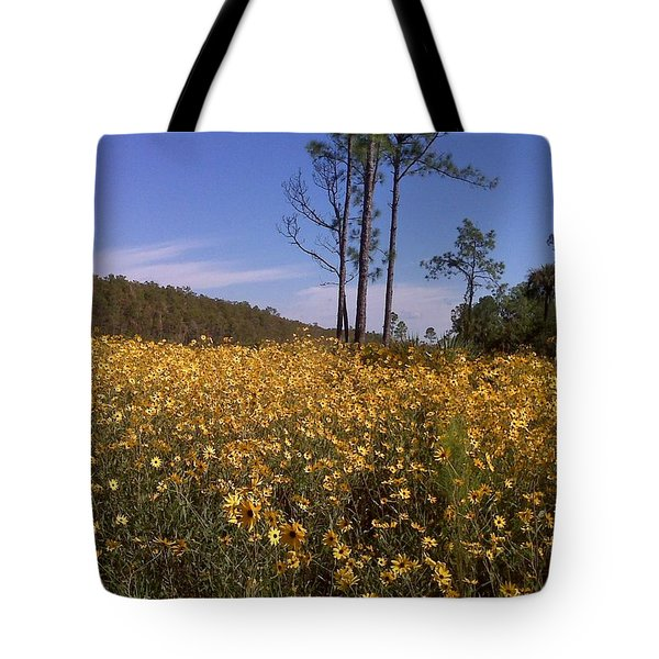 East Coast Dune Sunflowers Tote Bag by K Simmons Luna