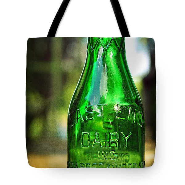 East End Dairy Green Milk Bottle Tote Bag