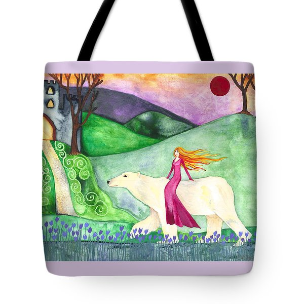 East Of The Sun And West Of The Moon Tote Bag by Cat Athena Louise