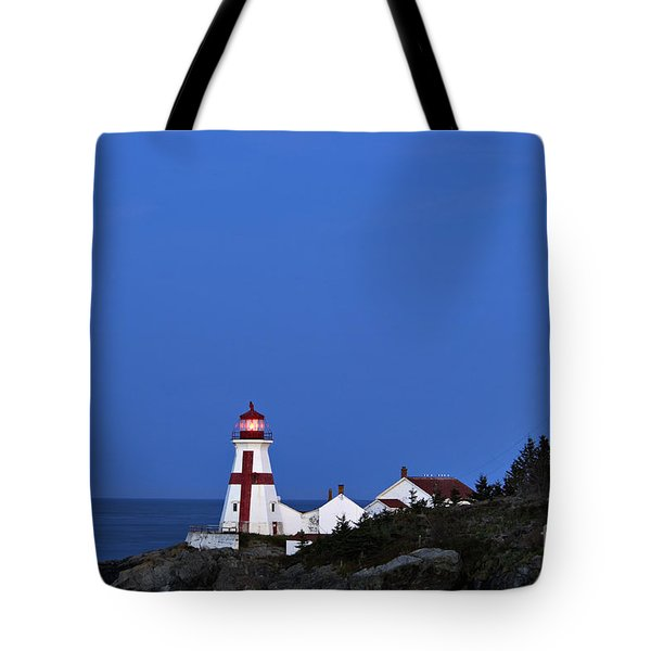 East Quoddy Lighthouse - D002160 Tote Bag by Daniel Dempster