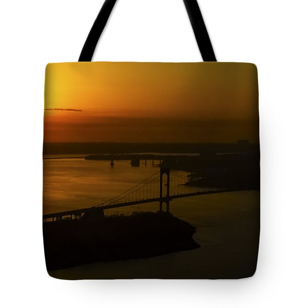 East River Sunrise Tote Bag