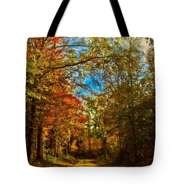 East Texas Back Roads Hdr Tote Bag