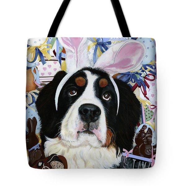 Easter Berner Bunny Duties Tote Bag by Liane Weyers
