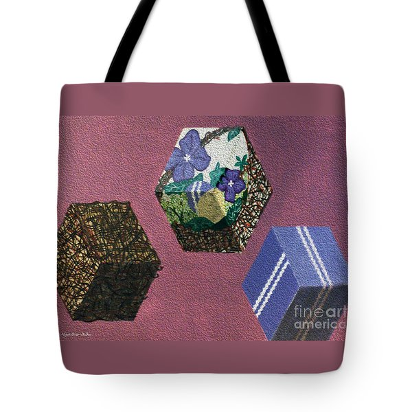 Tote Bag featuring the painting Easter Cubes - Painting by Megan Dirsa-DuBois