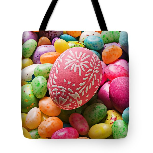 Easter Egg And Jellybeans  Tote Bag by Garry Gay