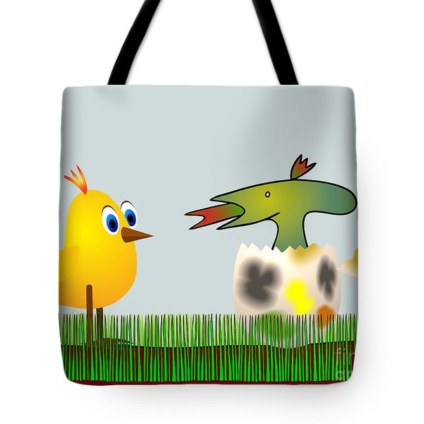 Easter Egg - Disagreeable Surprise Tote Bag by Michal Boubin