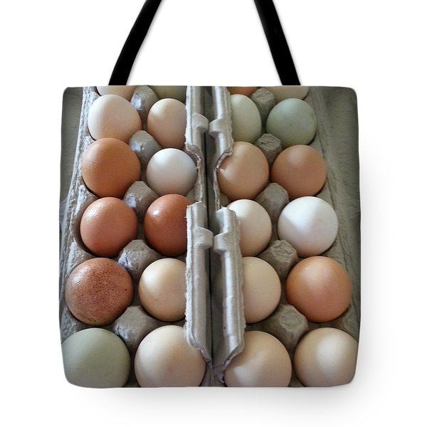 Tote Bag featuring the photograph Easter Eggs Au Naturel by Caryl J Bohn