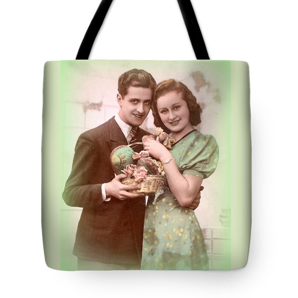 Easter Greetings Retro Style Tote Bag by The Creative Minds Art and Photography