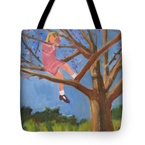 Easter In The Apple Tree Tote Bag