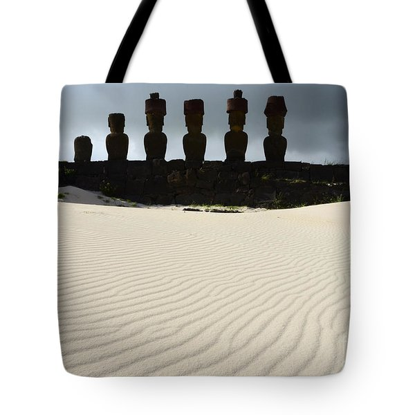Easter Island 9 Tote Bag by Bob Christopher