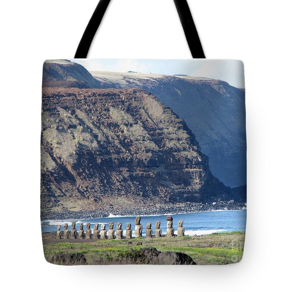 Easter Island Requiem Tote Bag