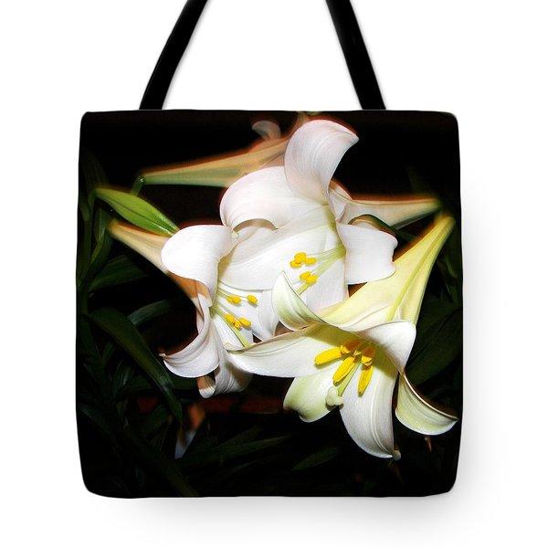 Easter Lilies Tote Bag by Pamela Hyde Wilson