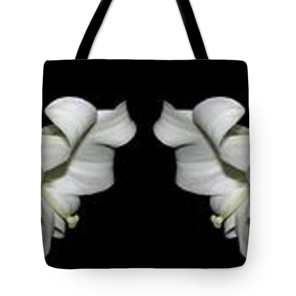 Easter Lilies Panorama Tote Bag by Rose Santuci-Sofranko