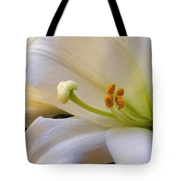 Tote Bag featuring the photograph Easter Lily by Bonnie Willis